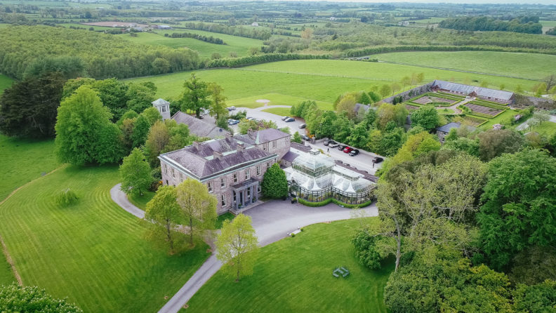ariel view of kilshane house tipperary ireland
