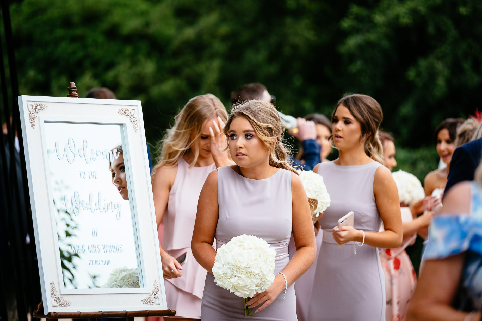 bridesmaid walking