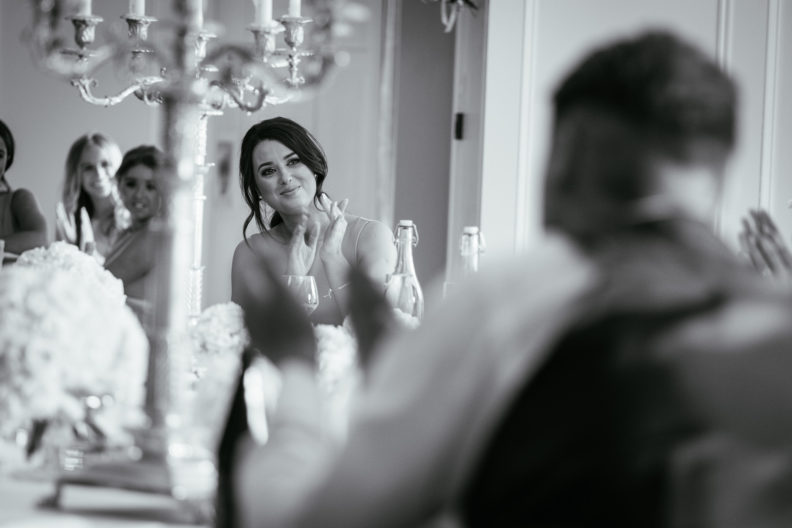 bridesmaid clapping