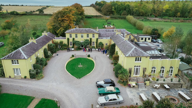 aerial view of ballinacurra house