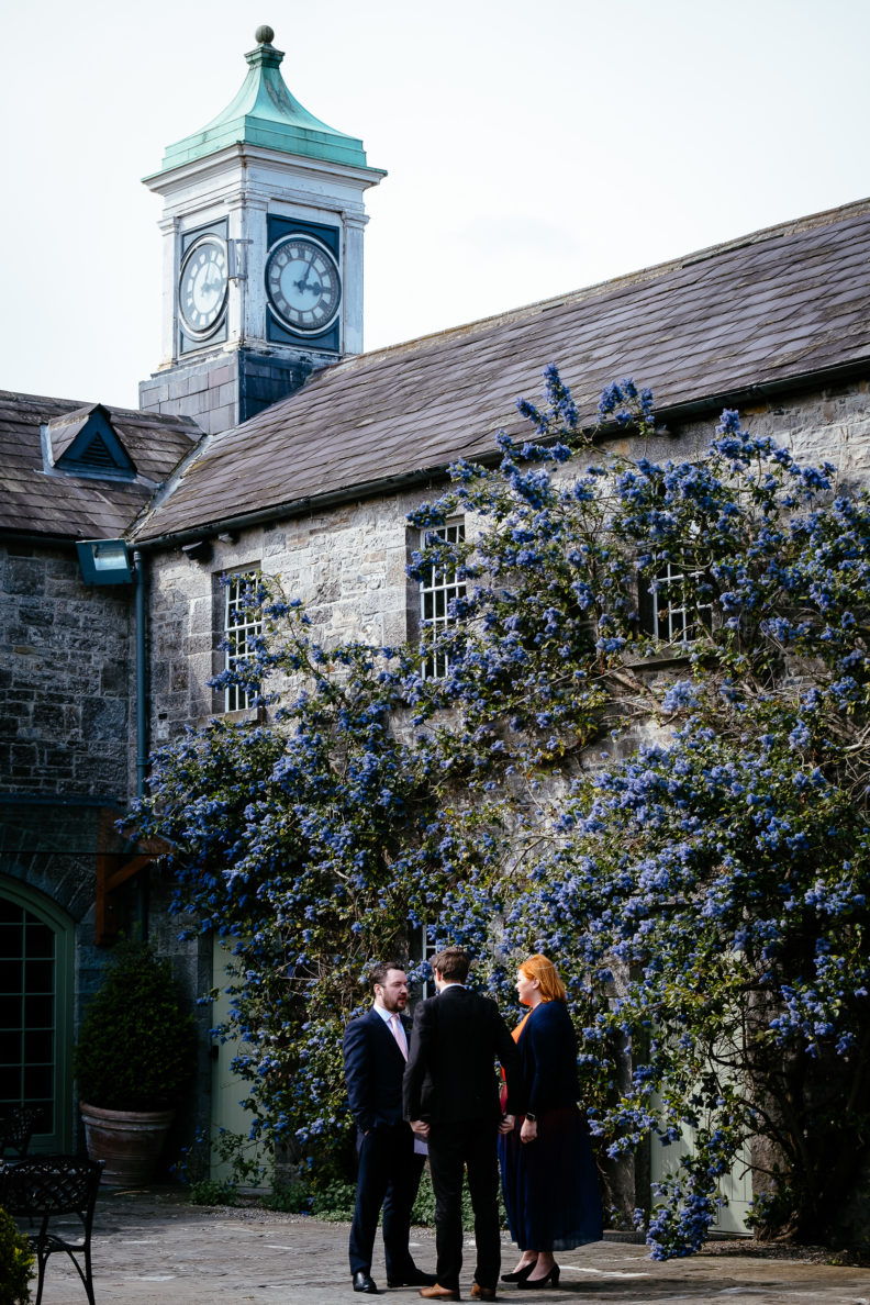 guests in the courtyard