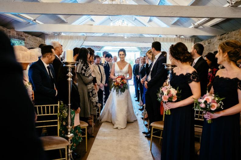 bride walking up the aisle
