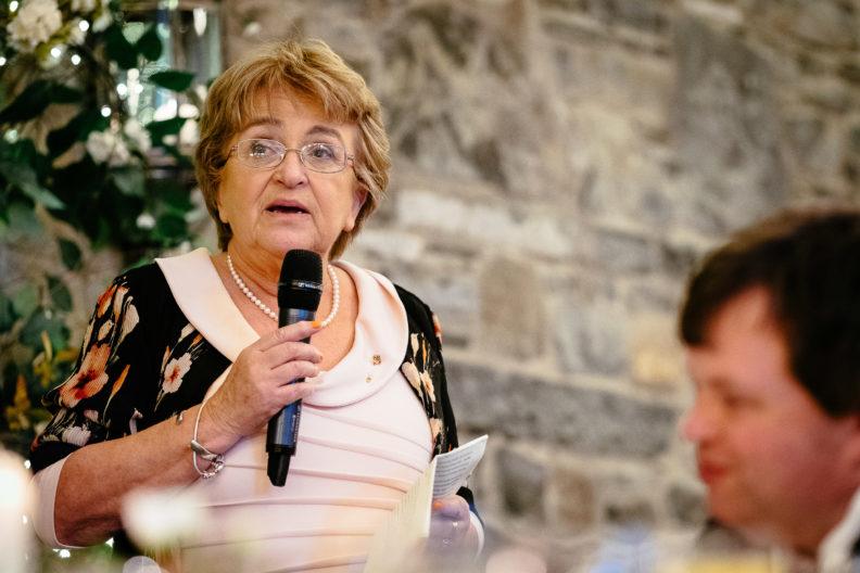 elderly lady speaking