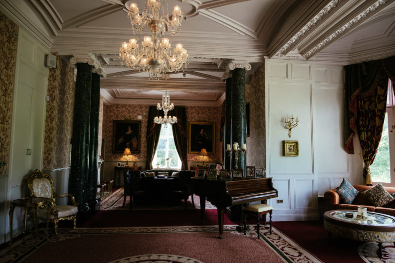 drawing room at markree castle