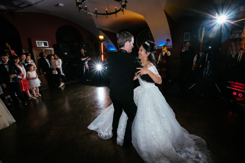 bride and groom first dance at markree castle
