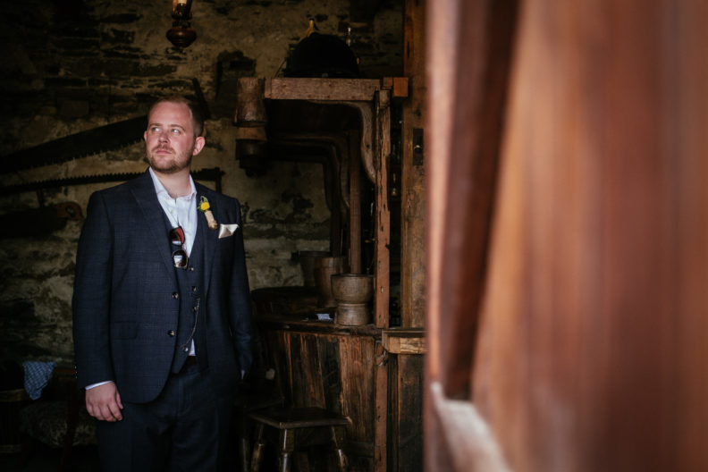 groom in bar of ballybeg house