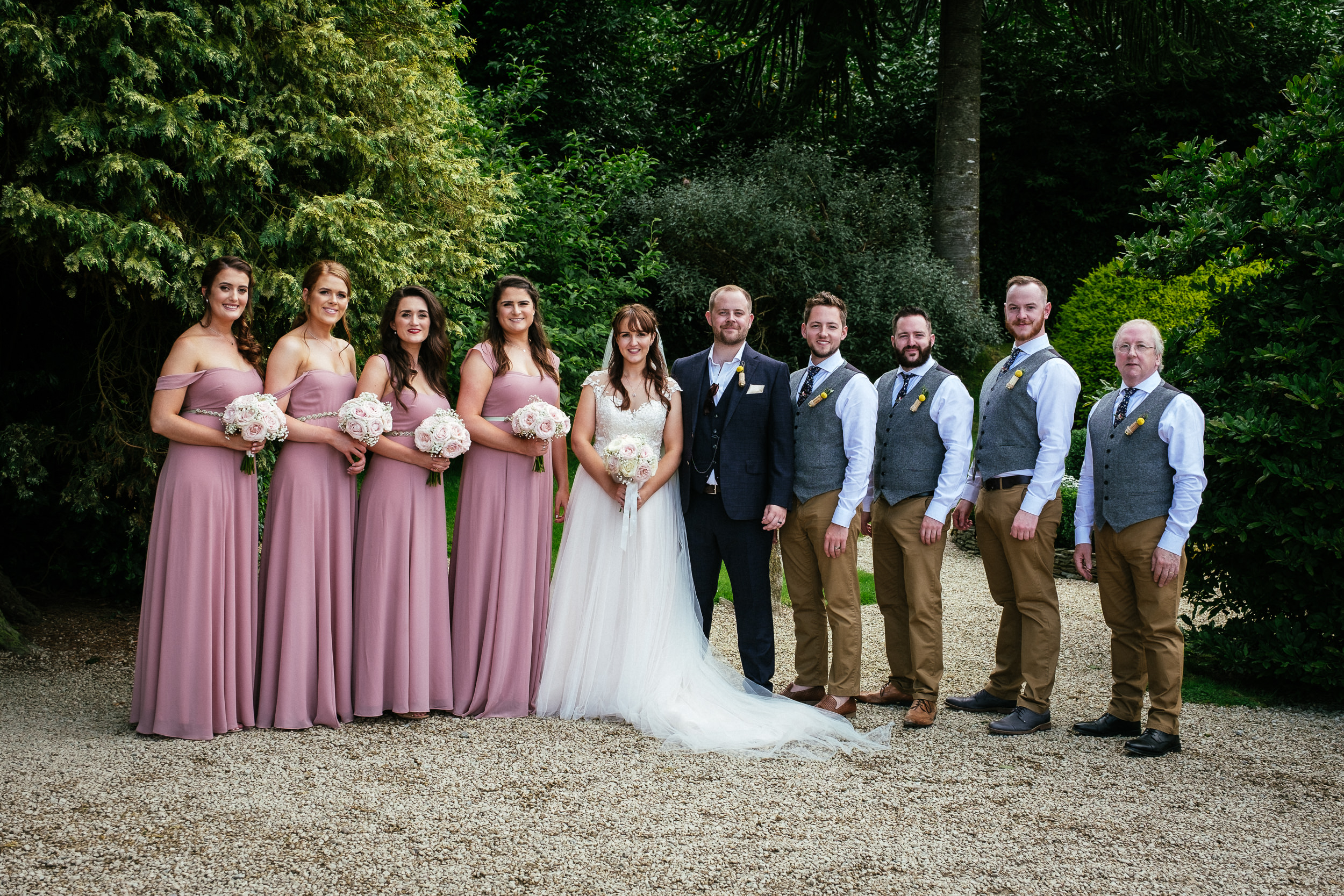 bridal party at ballybeg house wicklow