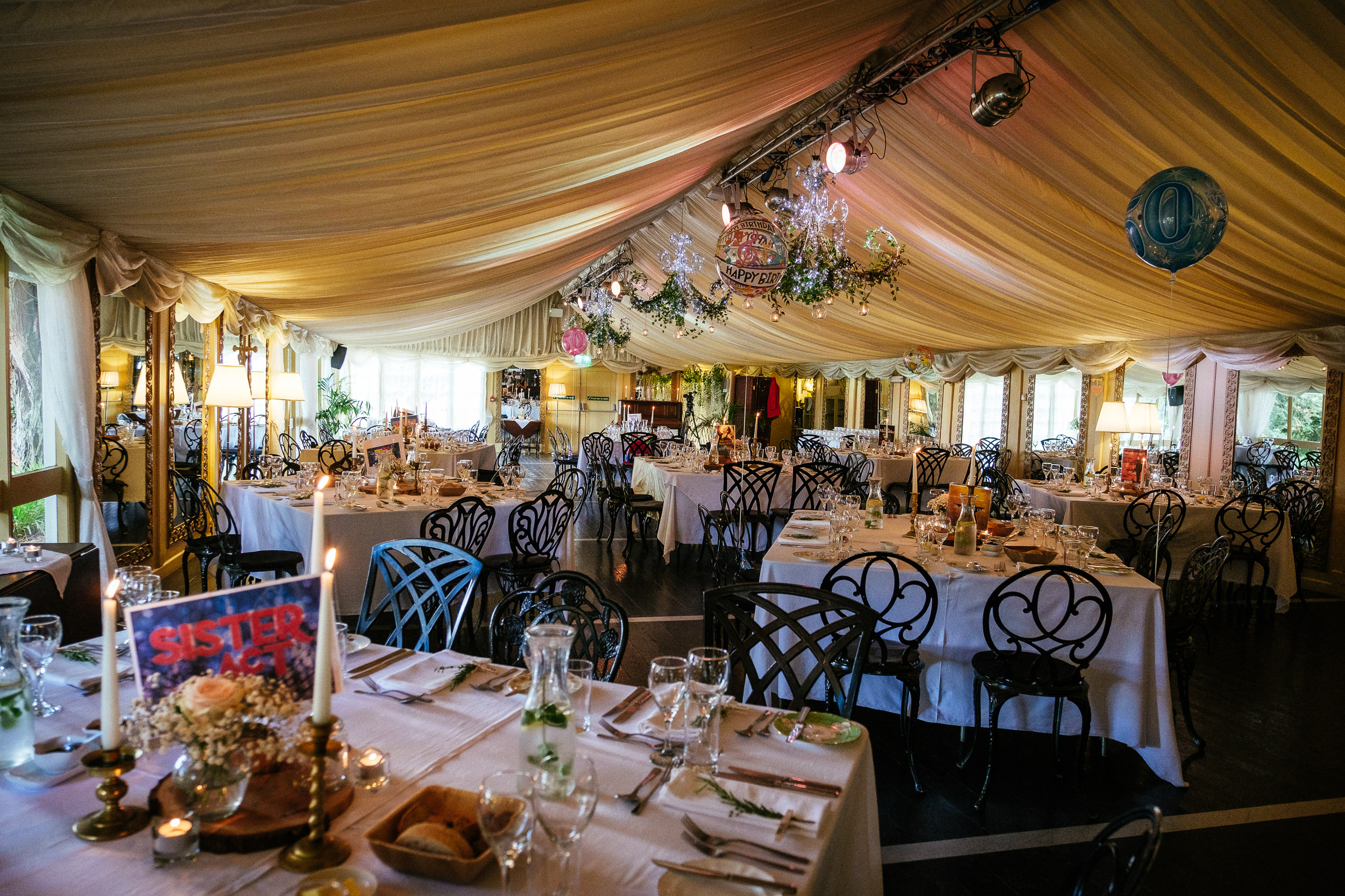 marquee at ballybeg house wicklow