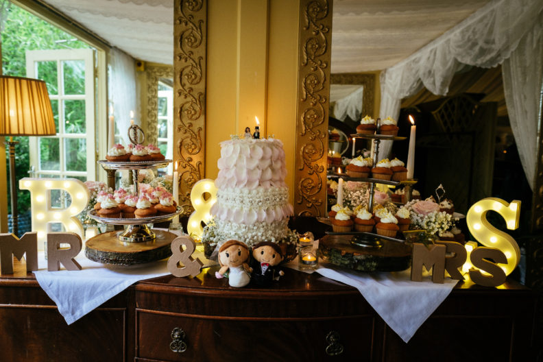 wedding cake at ballybeg house wicklow
