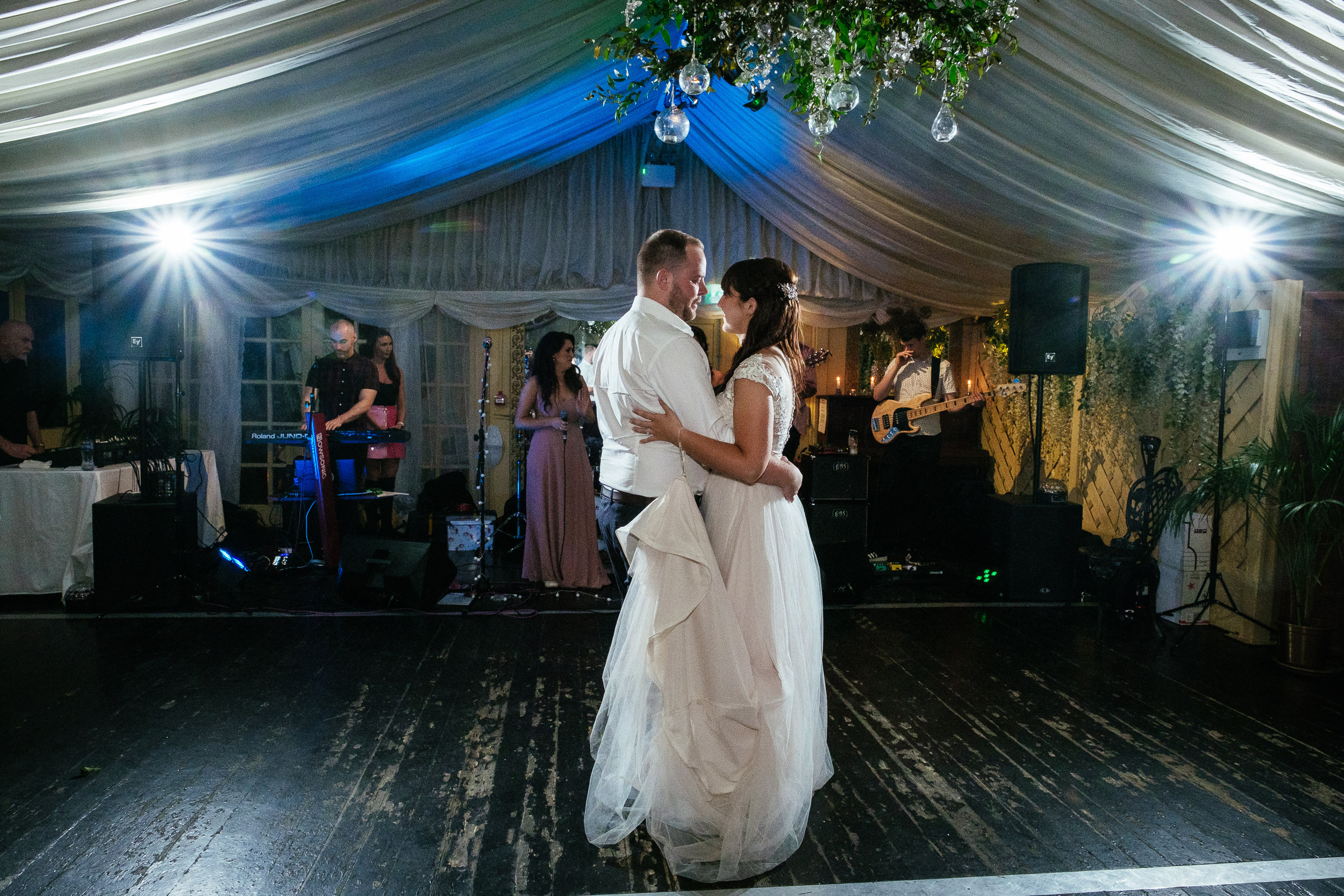 bride and groom first dance at ballybeg house wicklow