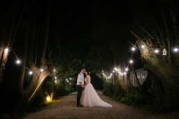 bride and groom night time photos at ballybeg house wicklow