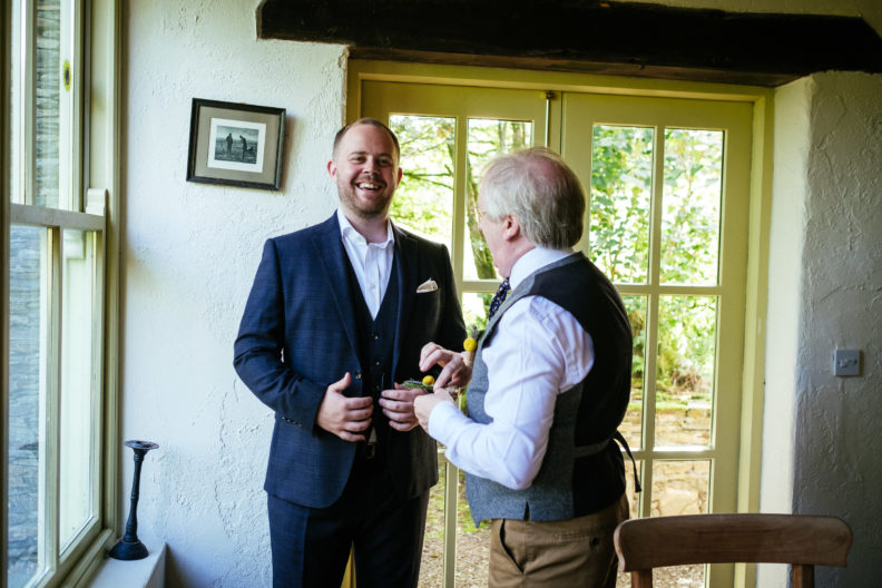 groom with his father at grouse lodge wicklow