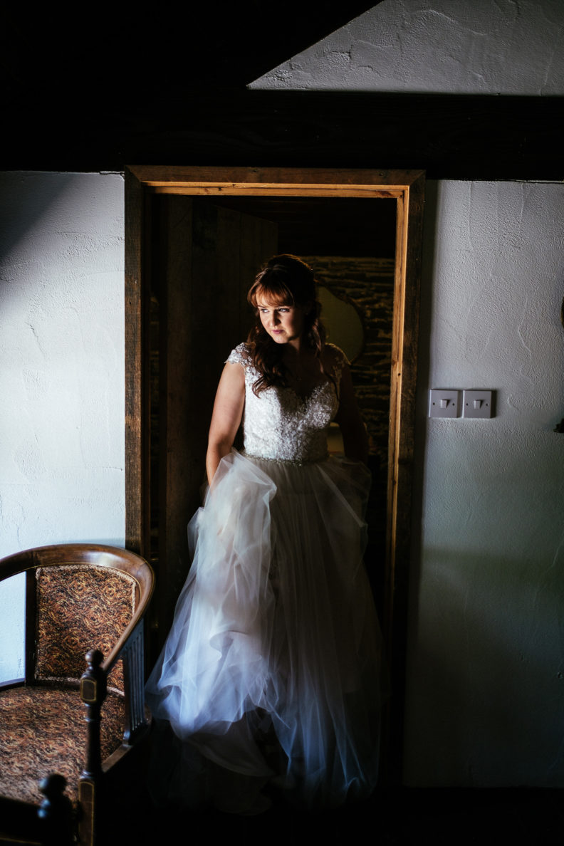 bride coming out of room at ballybeg house