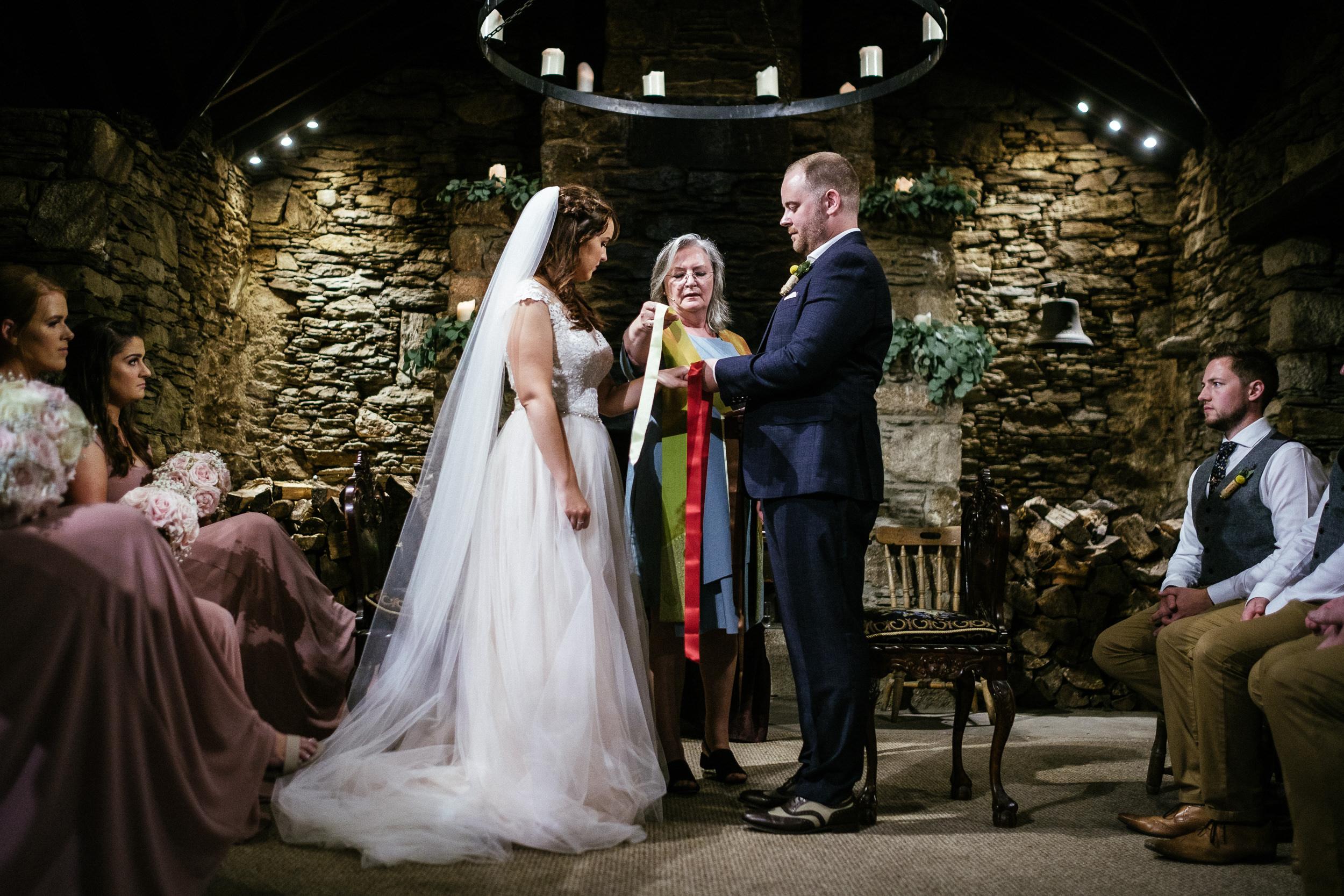 handfastening at ballybeg house wedding