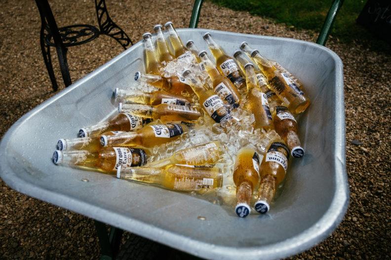 wheelbarrow of beer at ballybeg house