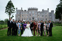 family photographs in front of markree castle sligo