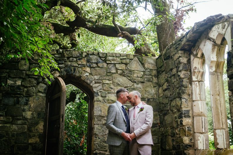 two gay grooms at dunboyne castle