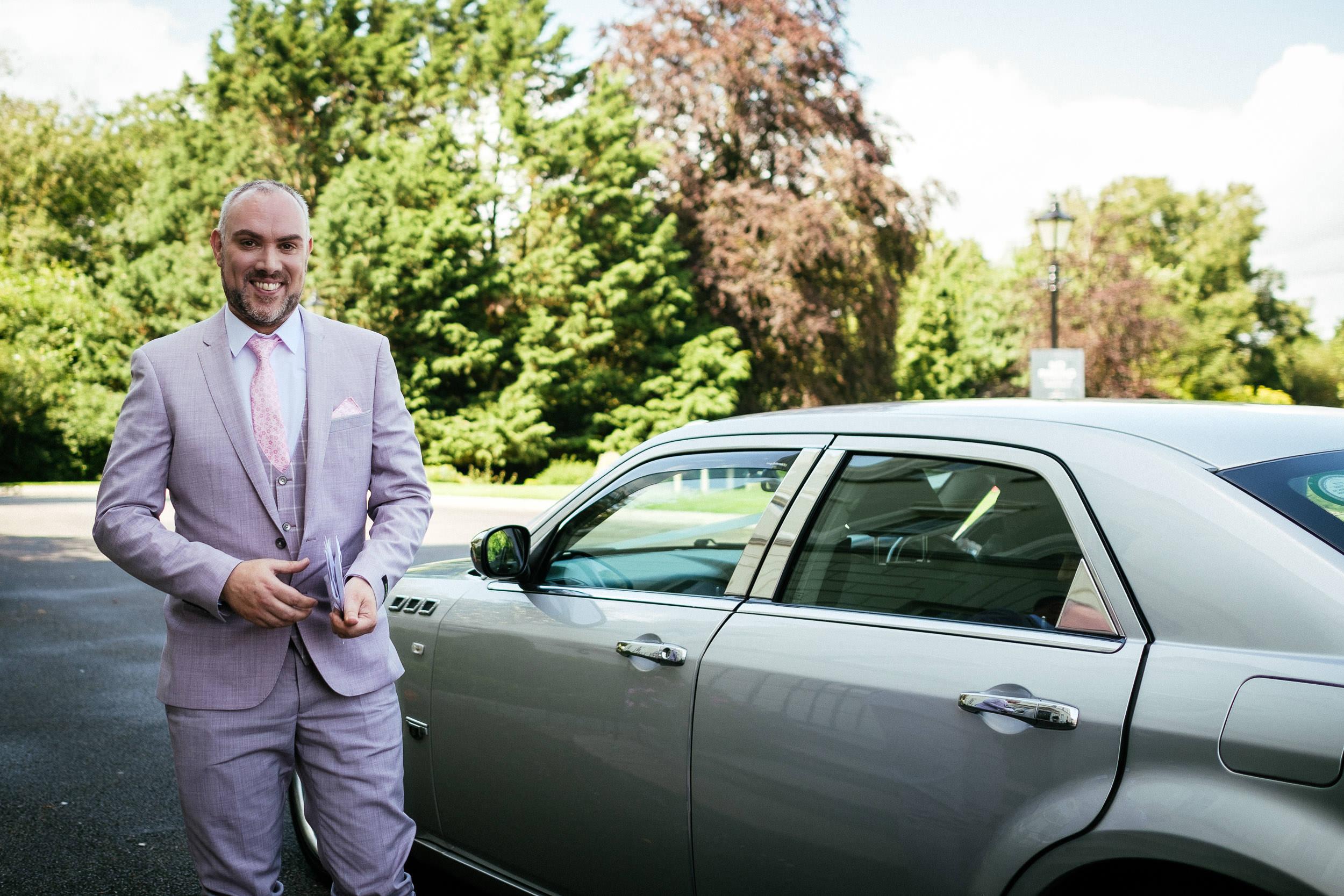 groom arriving at dunboyne castle