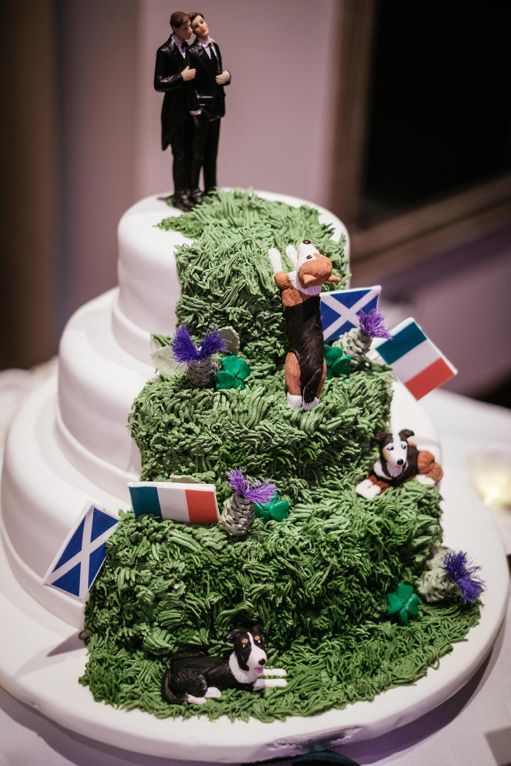 scottish and irish wedding cake
