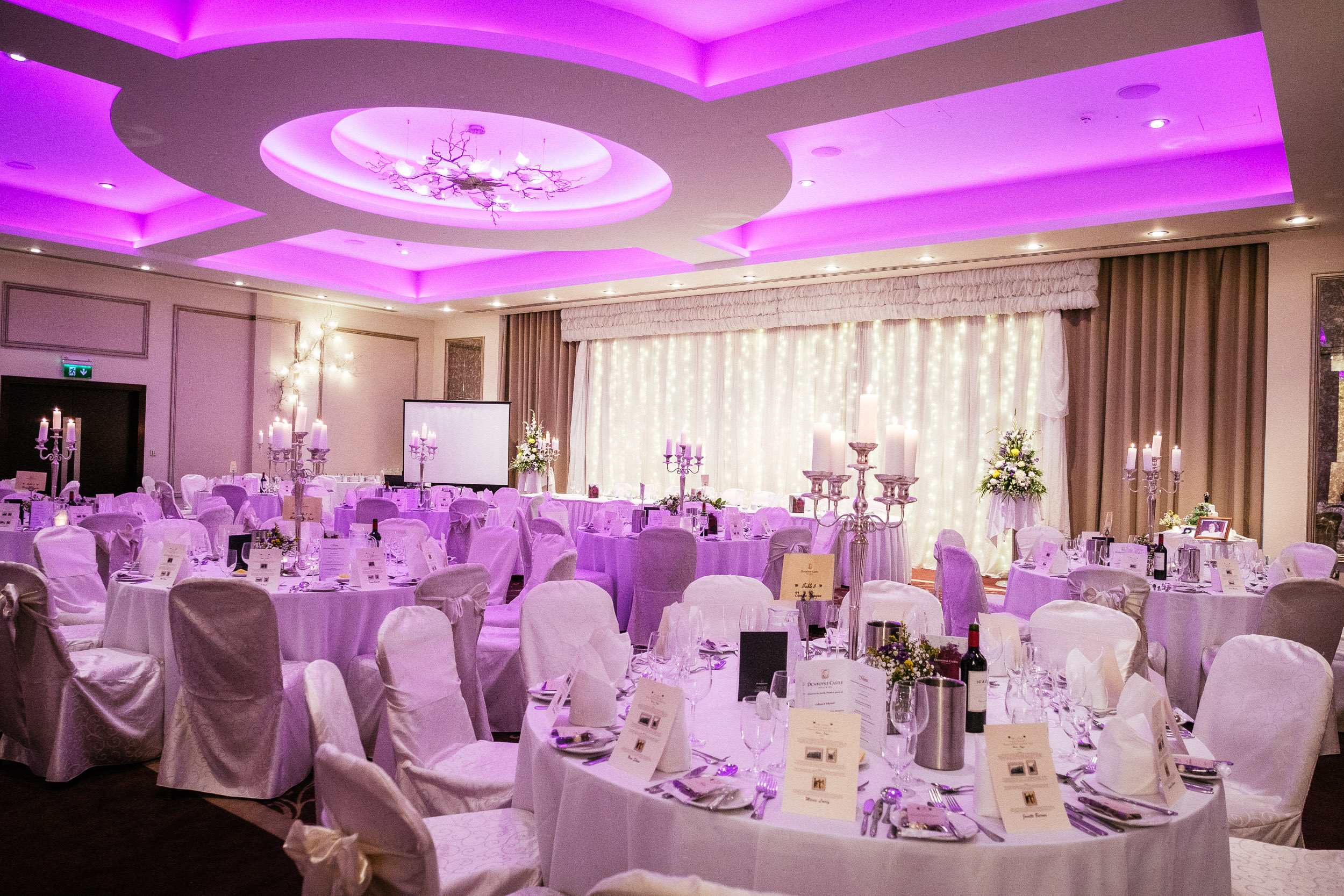 function room at dunboybe castle