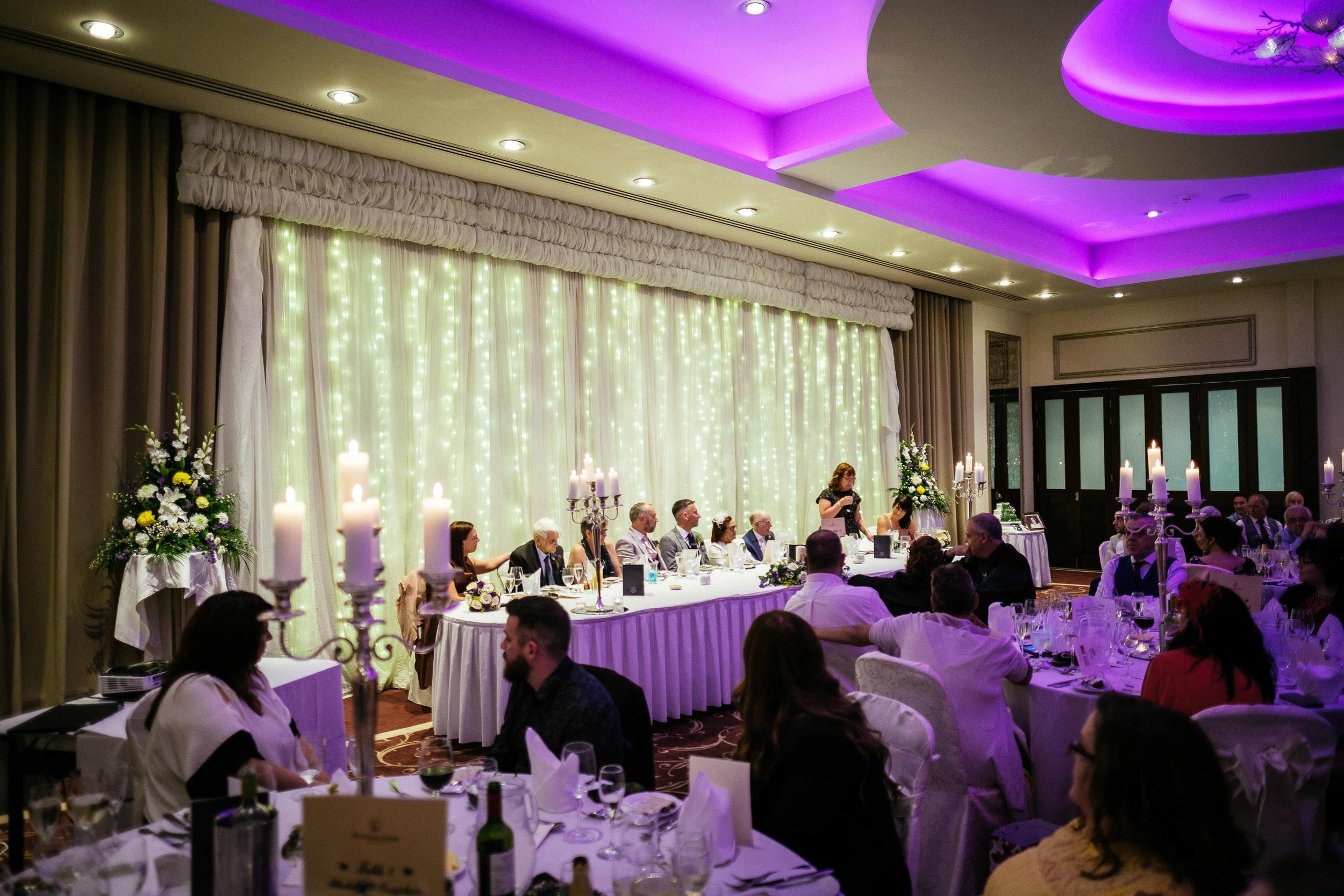 reception room at dunboyne castle