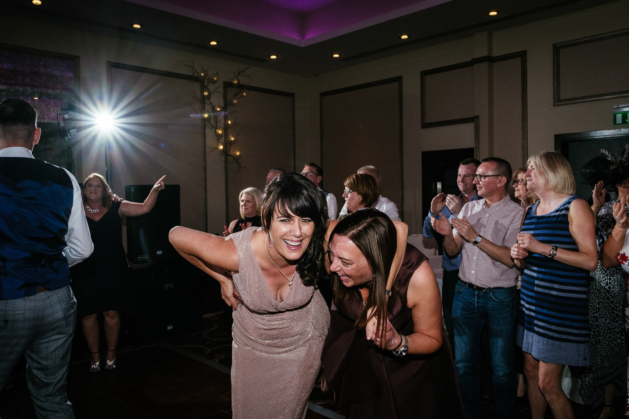 bridesmaids dancing at dunboyne castle