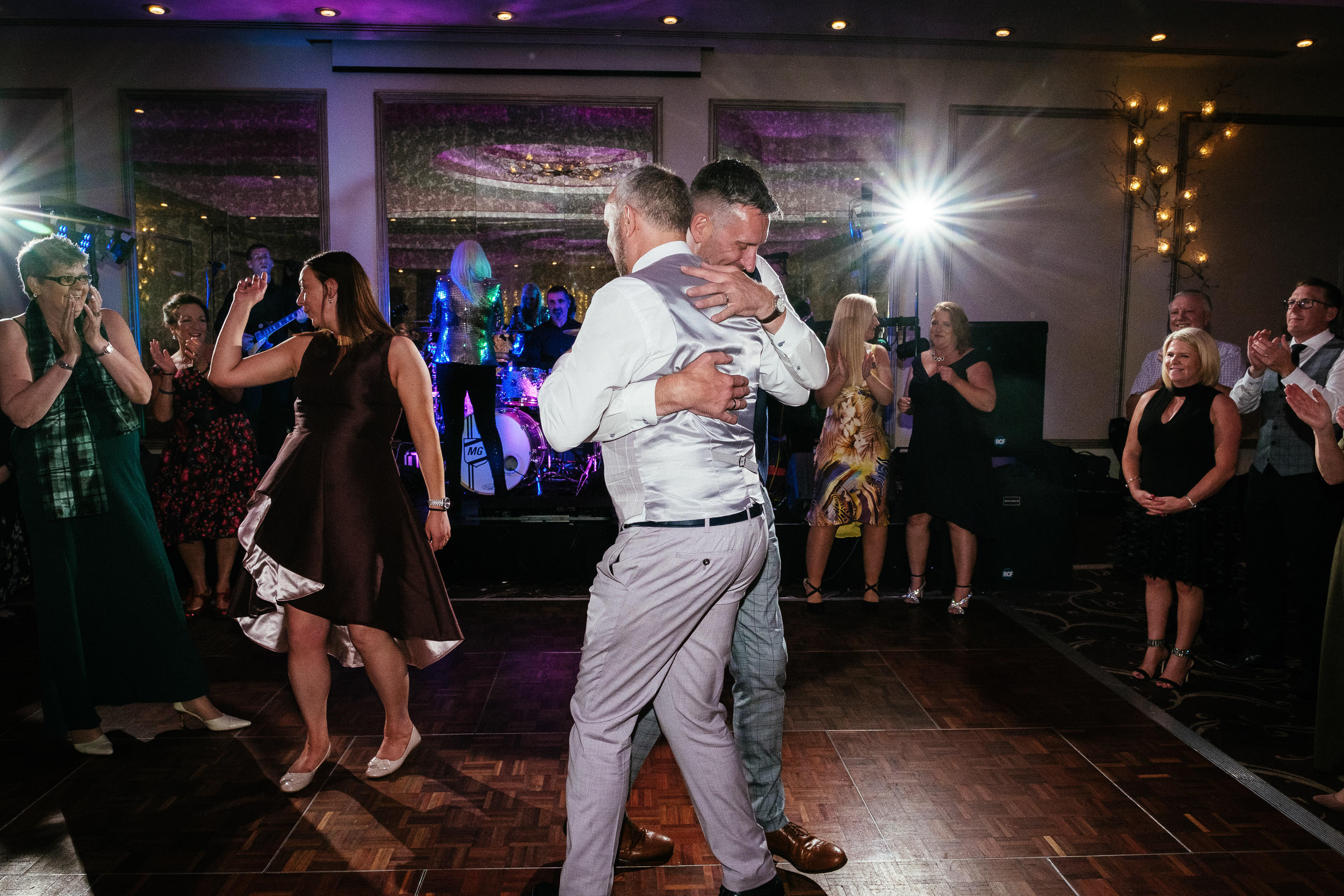 two gay grooms dancing at dunboyne castle