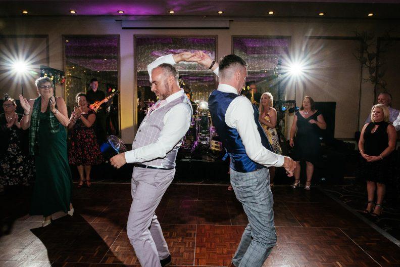 gay grooms dancing at dunboyne castle