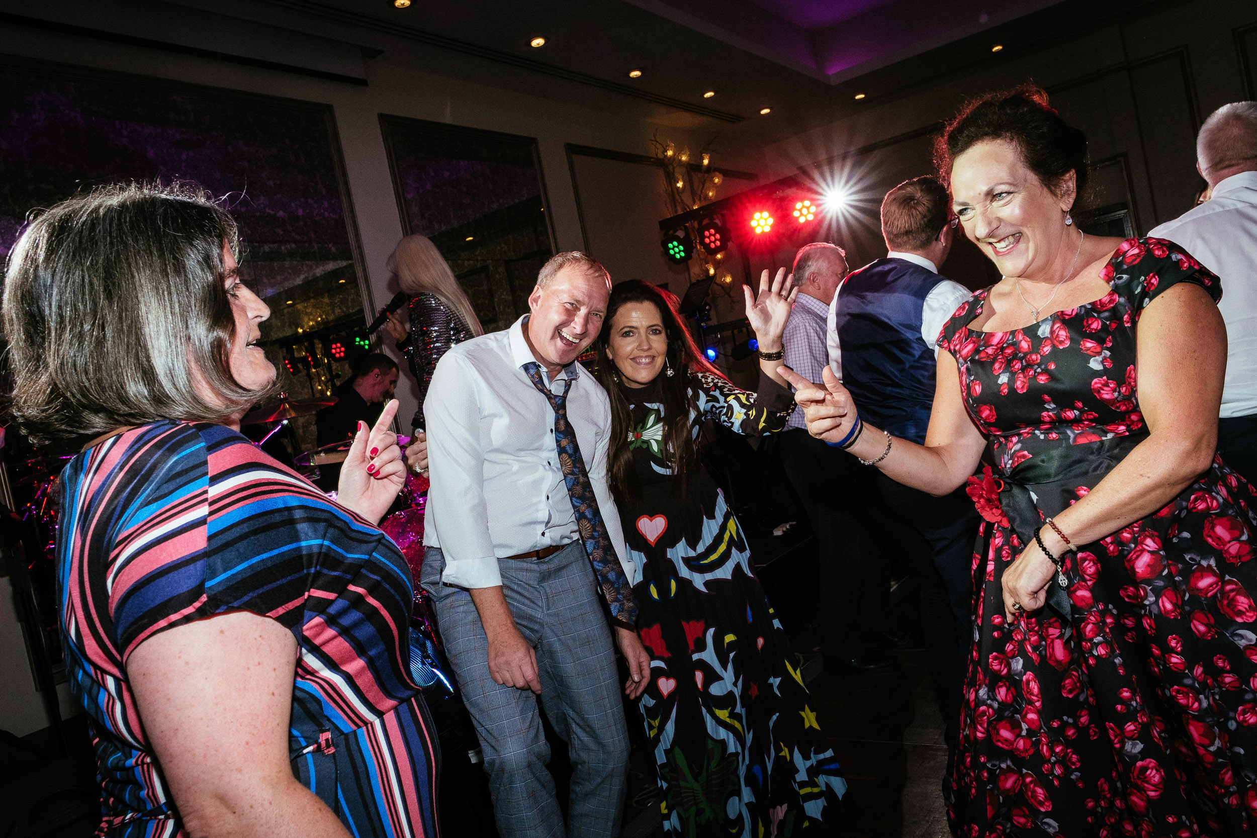 wedding guests dancing at dunboyne castle