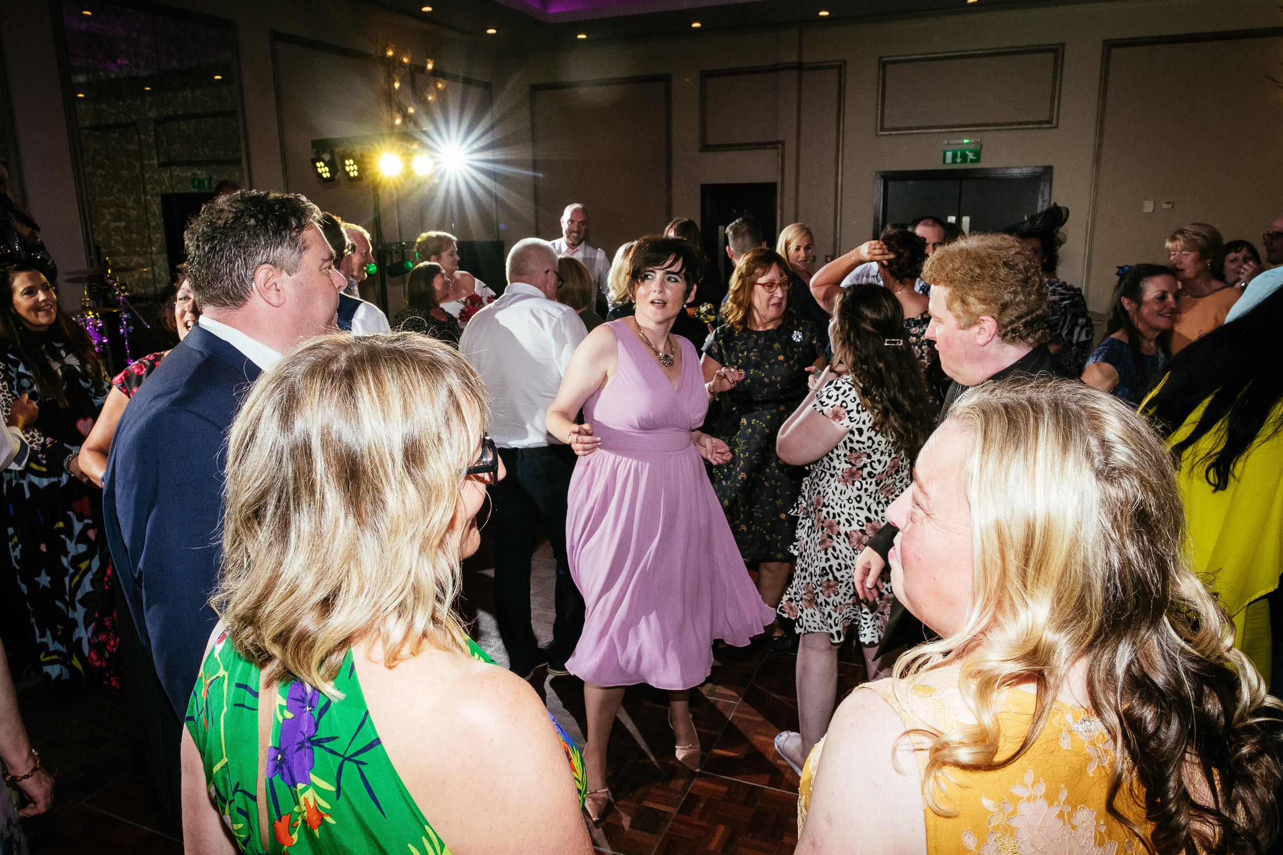 bridesmaid dancing at dunboyne castle