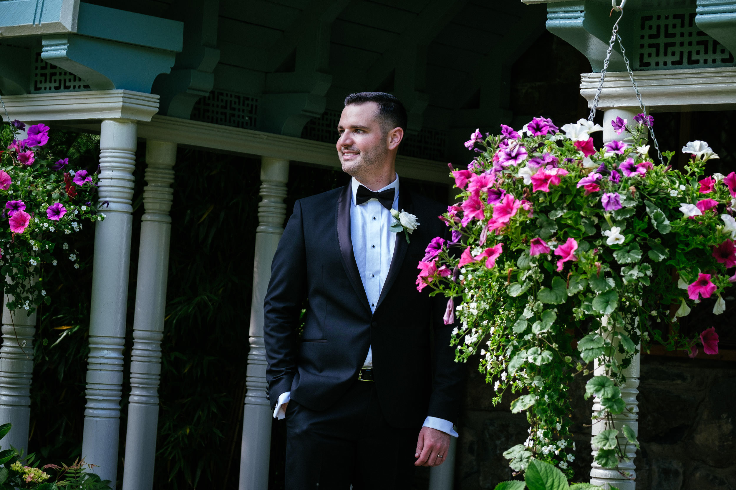 elegant groom at Johnstown House estate