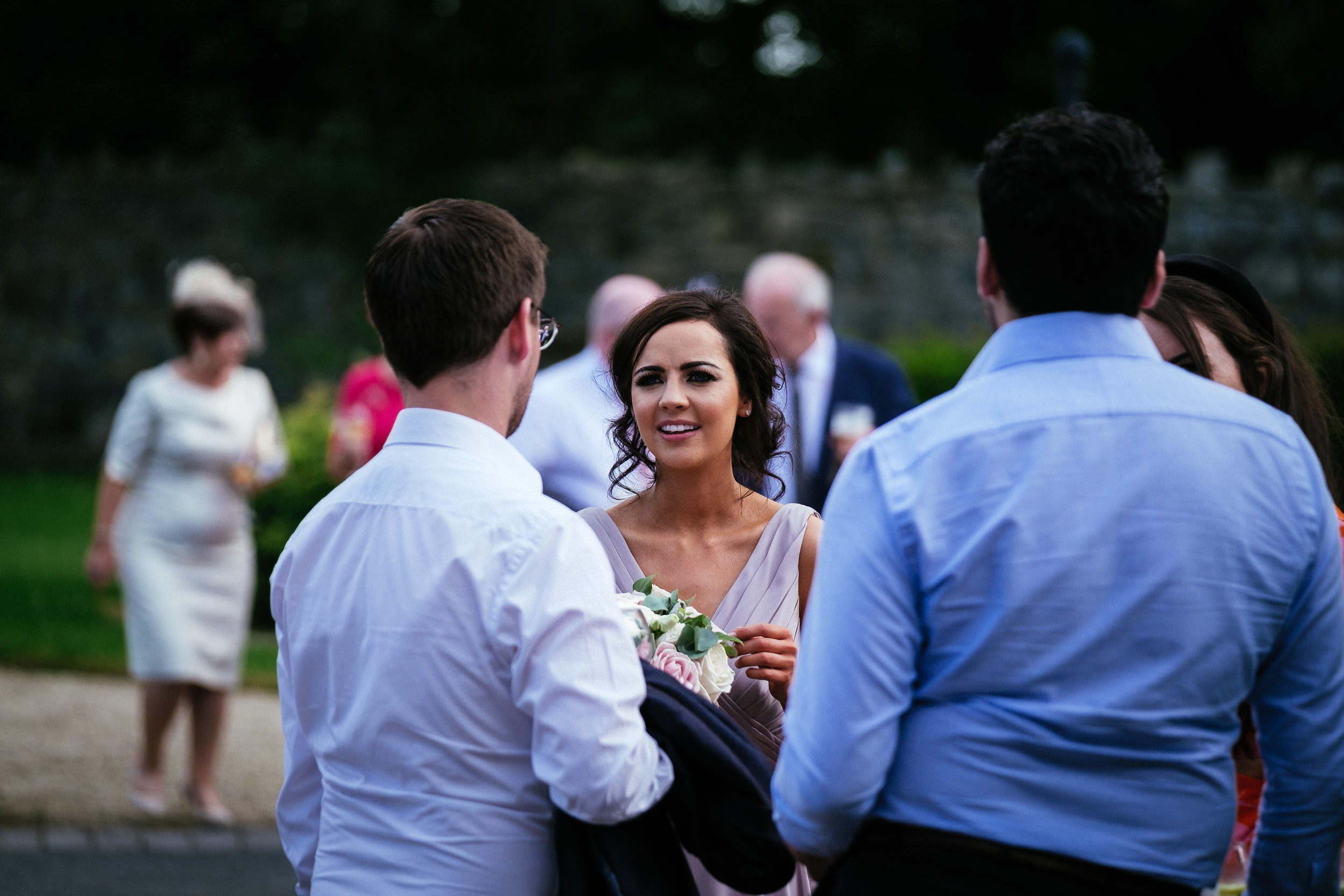 wedding guests at Johnstown House estate