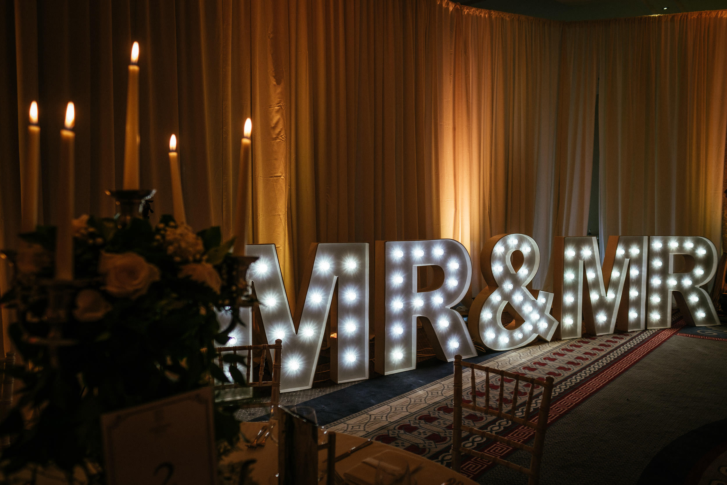 mr and mrs sign at Johnstown House estate