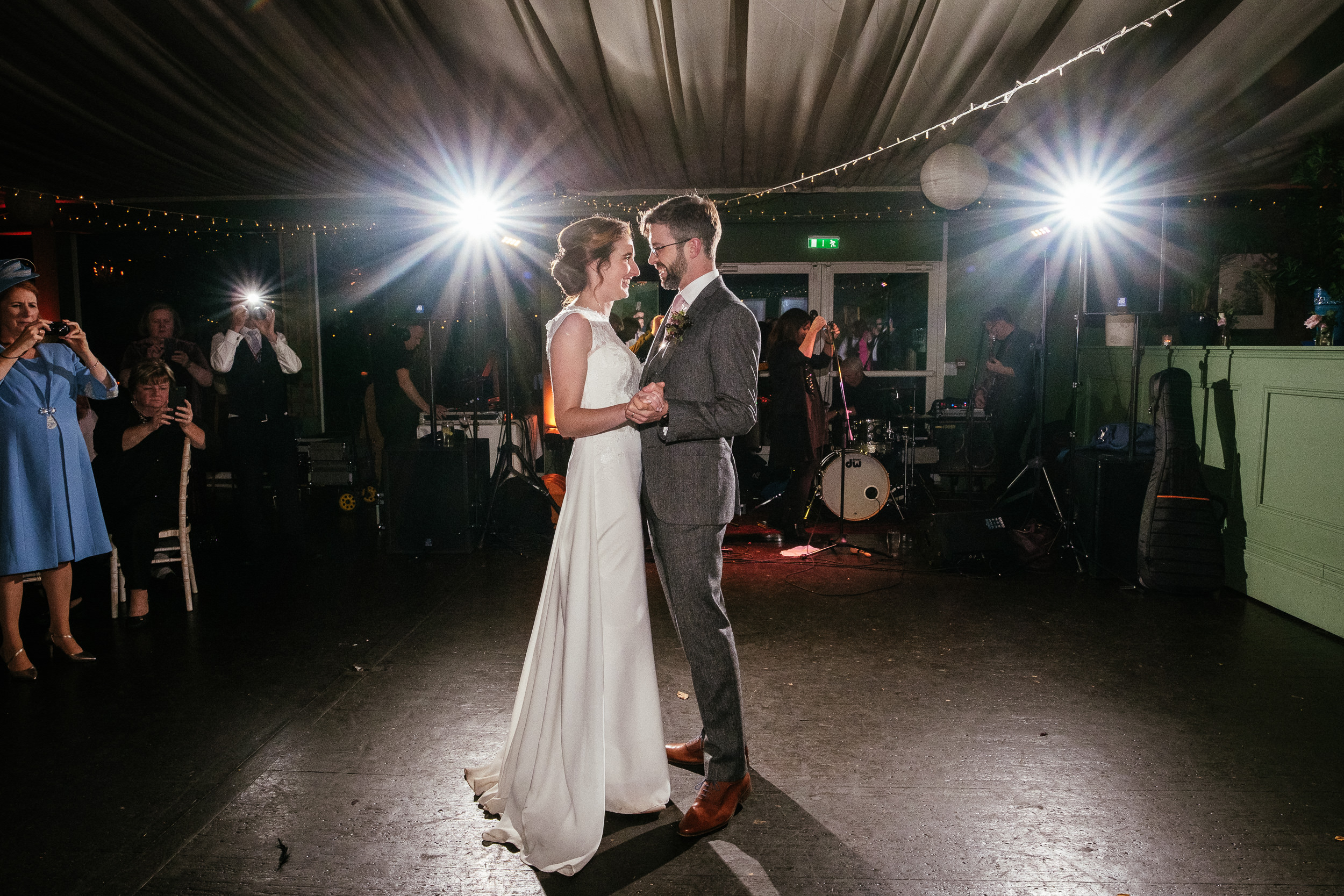 bride and groom having their first dance at Tinakilly House Wicklow
