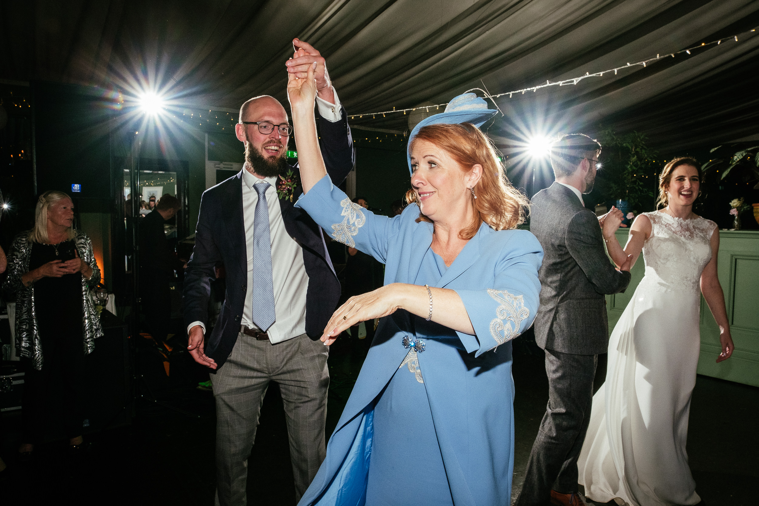 wedding guests dancing at Tinakilly House Wicklow