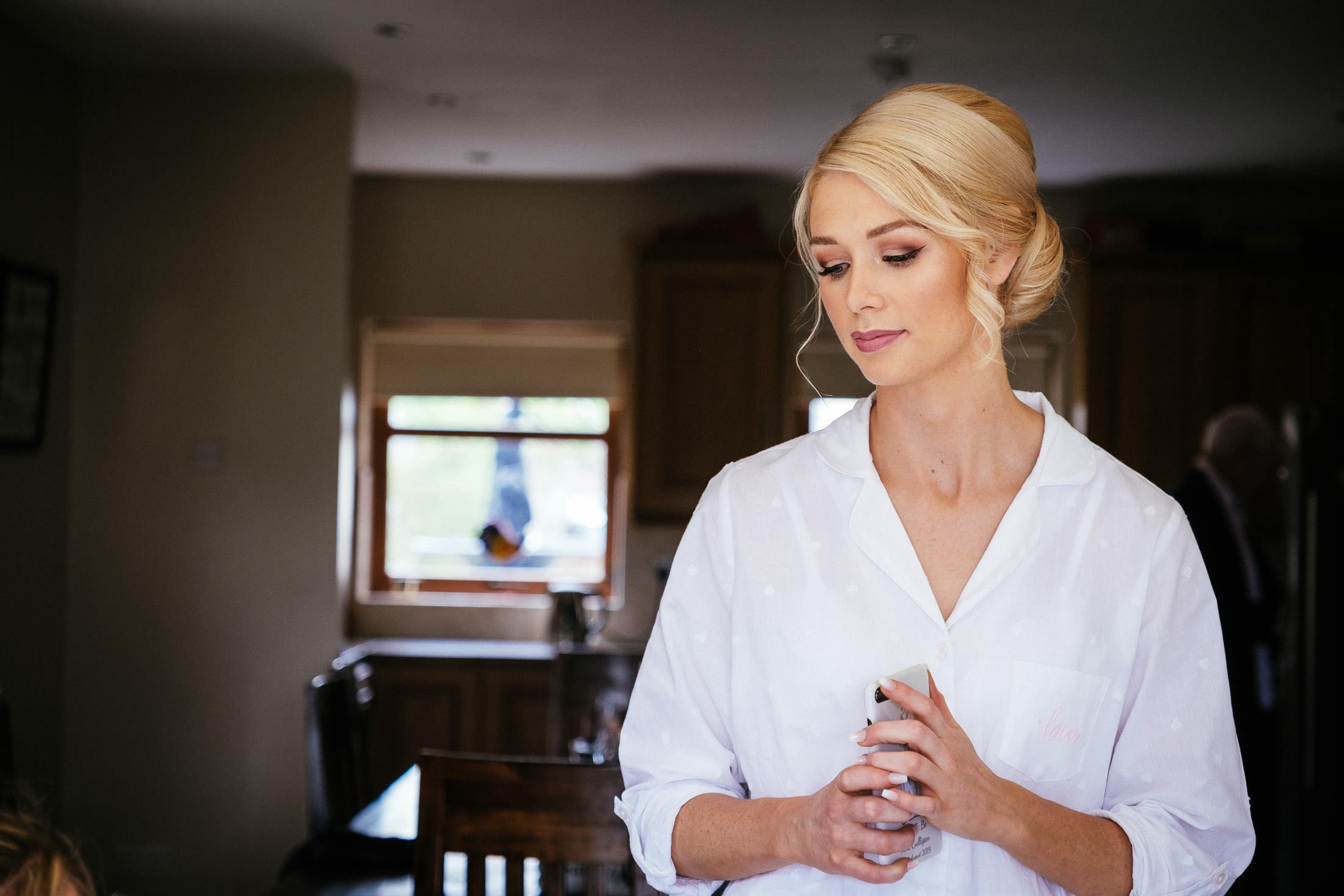 bride being pensive