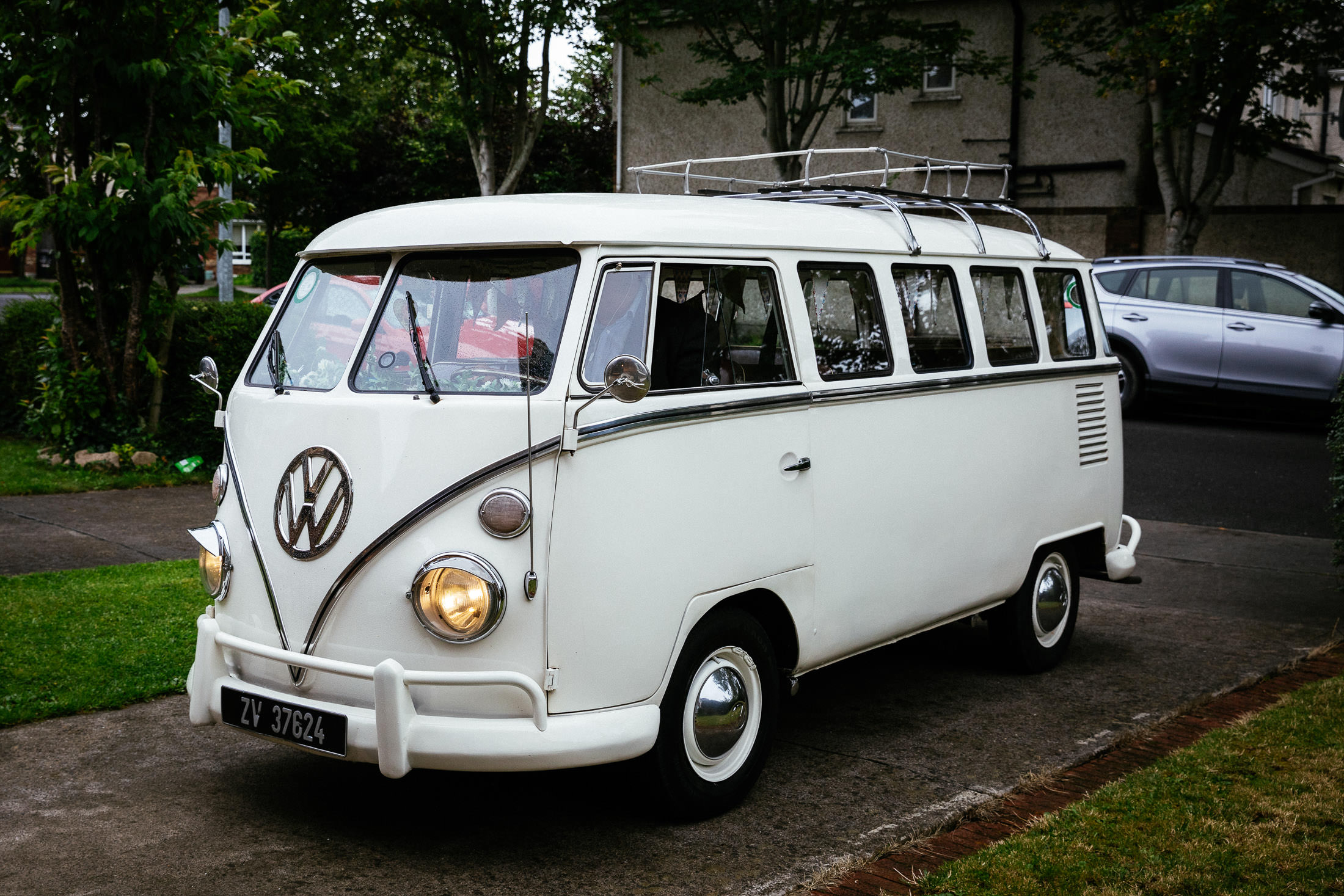 Vintage VW wedding camper van