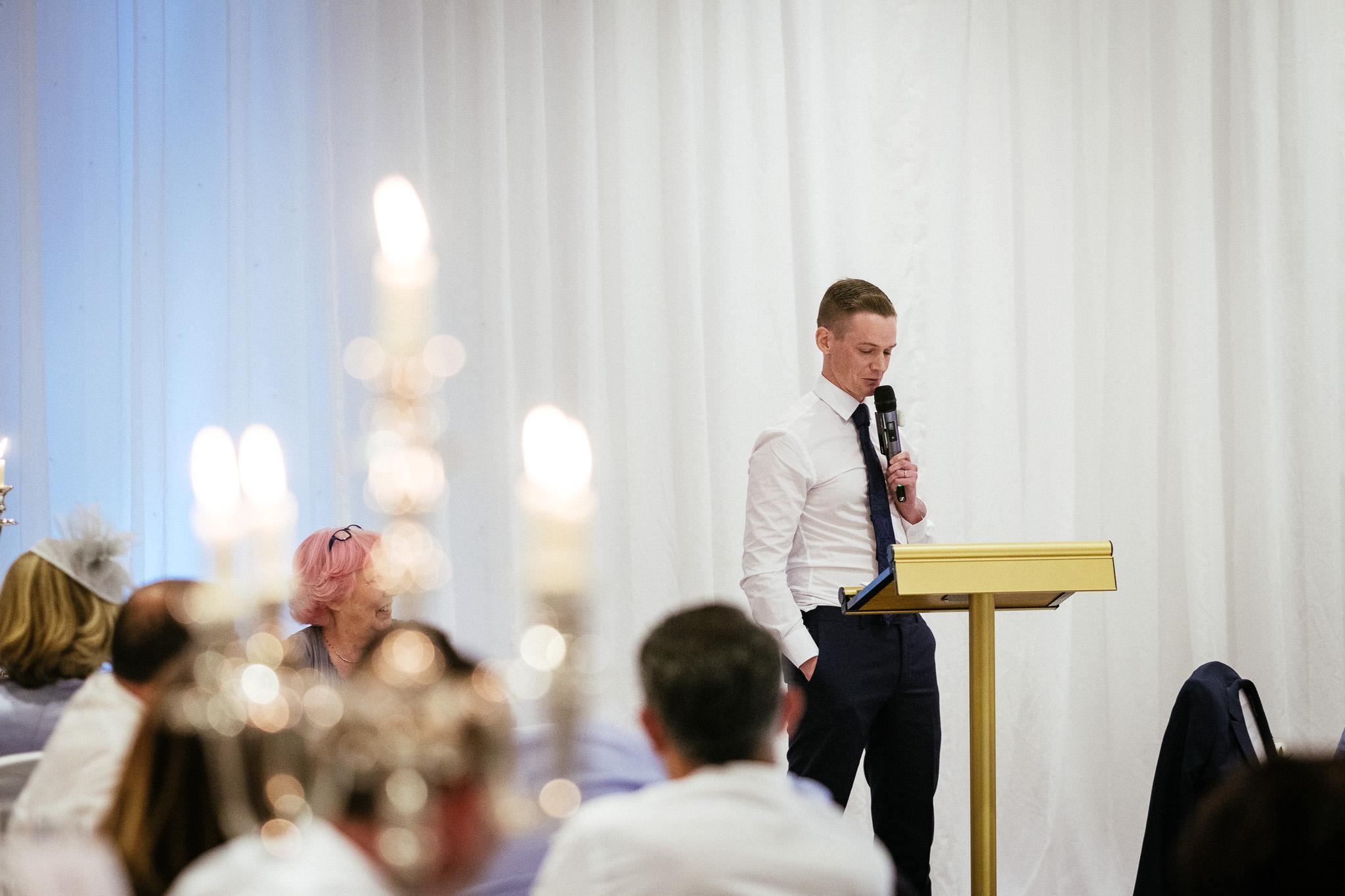 best man making a speech at the portmarnock hotel