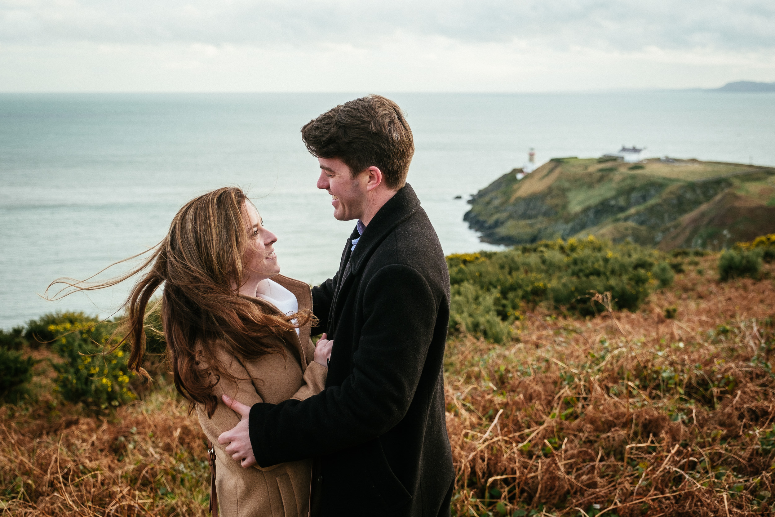 Surprise proposal at Howth Summit Dublin Photographer 10