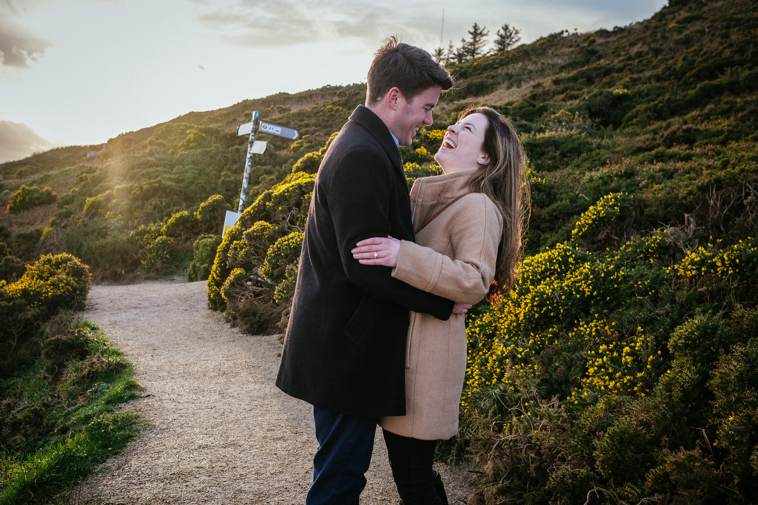 Surprise proposal at Howth Summit Dublin Photographer 23