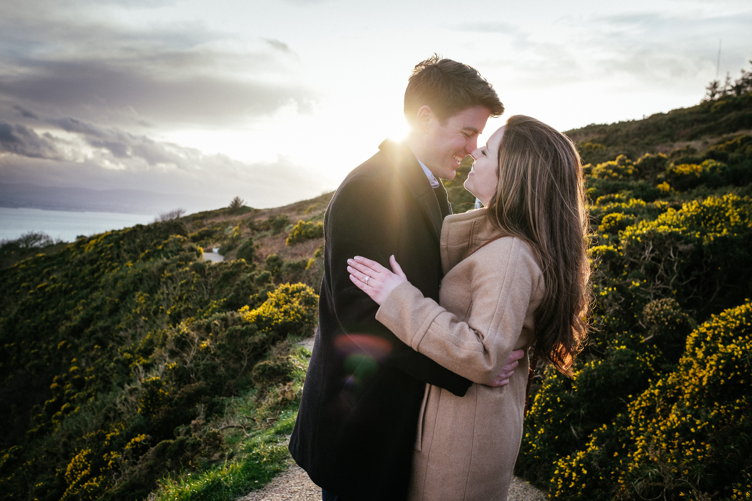 Surprise proposal at Howth Summit Dublin Photographer 24