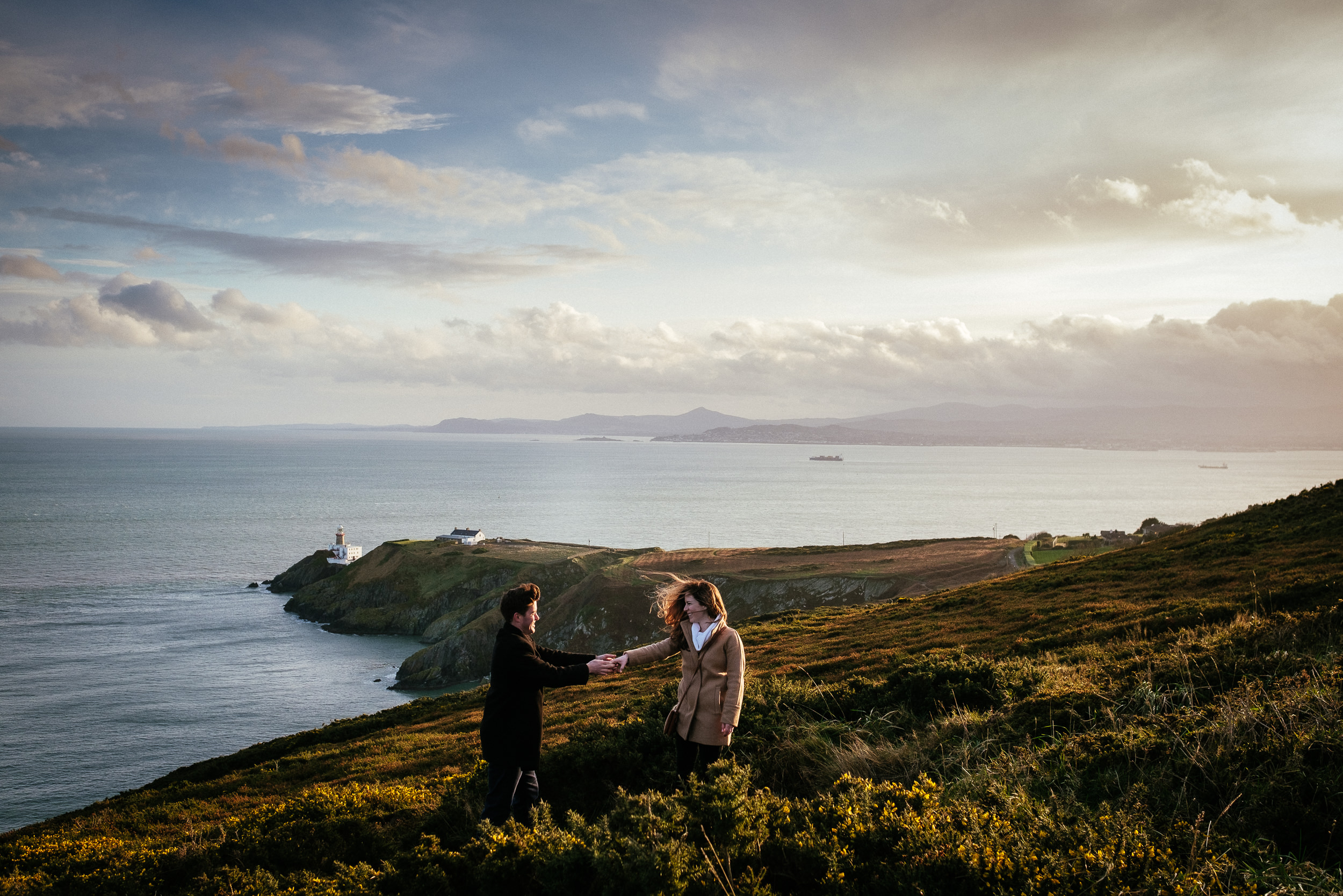 Surprise proposal at Howth Summit Dublin Photographer 31