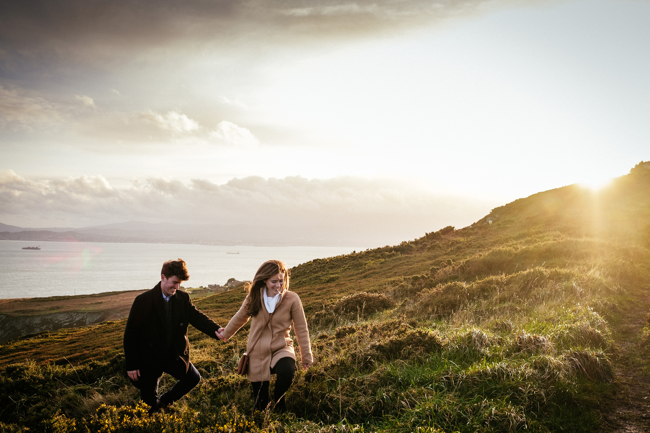 Surprise proposal at Howth Summit Dublin Photographer 35