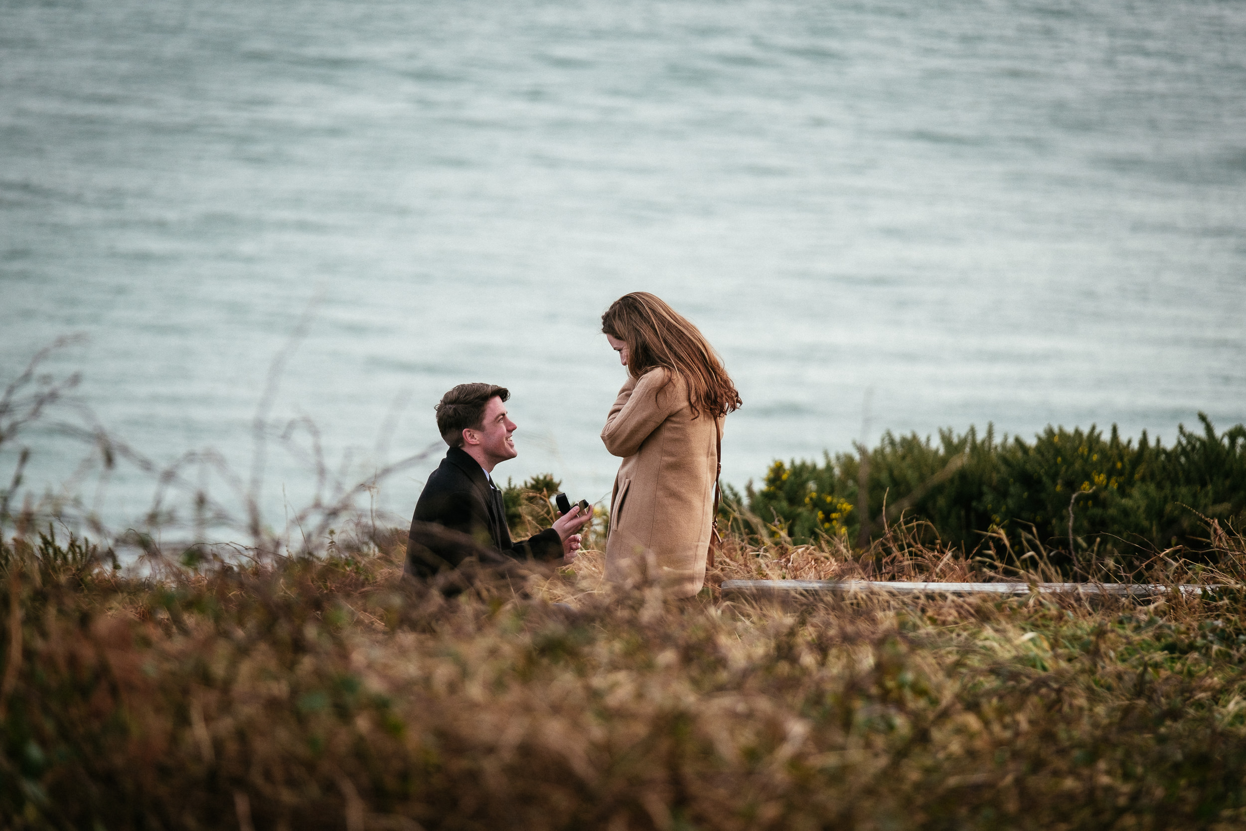 Surprise proposal at Howth Summit Dublin Photographer 4
