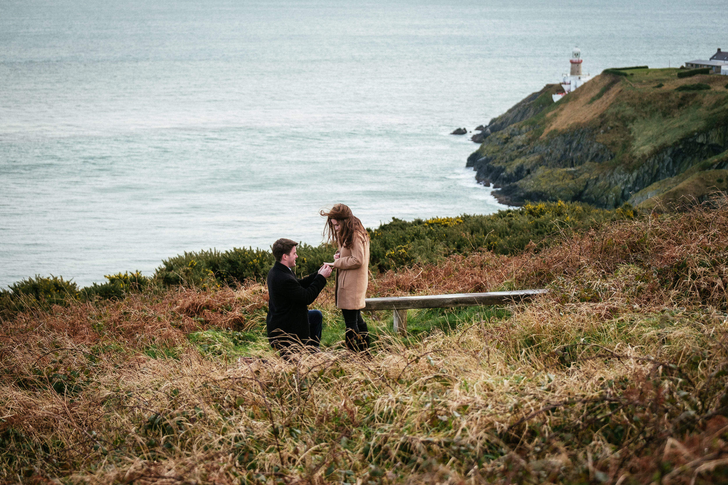 Surprise proposal at Howth Summit Dublin Photographer 5