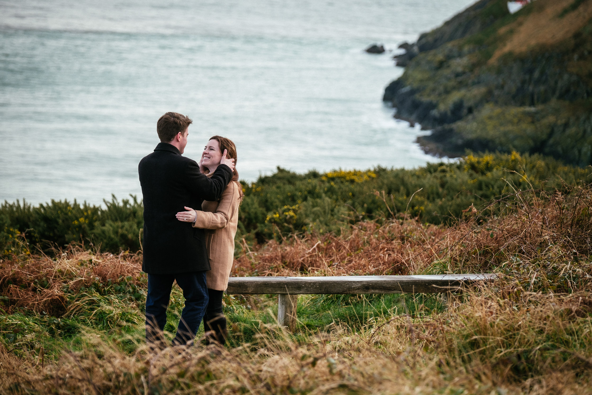 Surprise proposal at Howth Summit Dublin Photographer 8