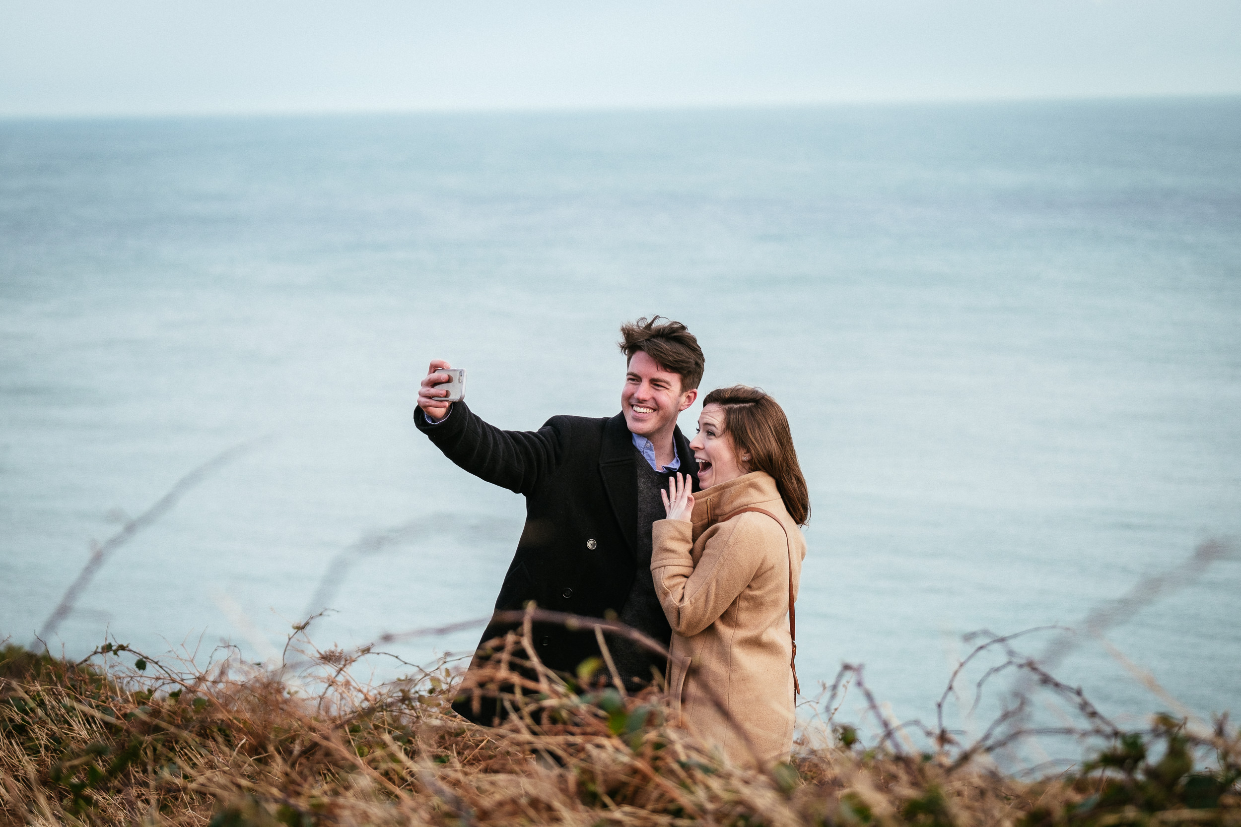 Surprise proposal at Howth Summit Dublin Photographer 9