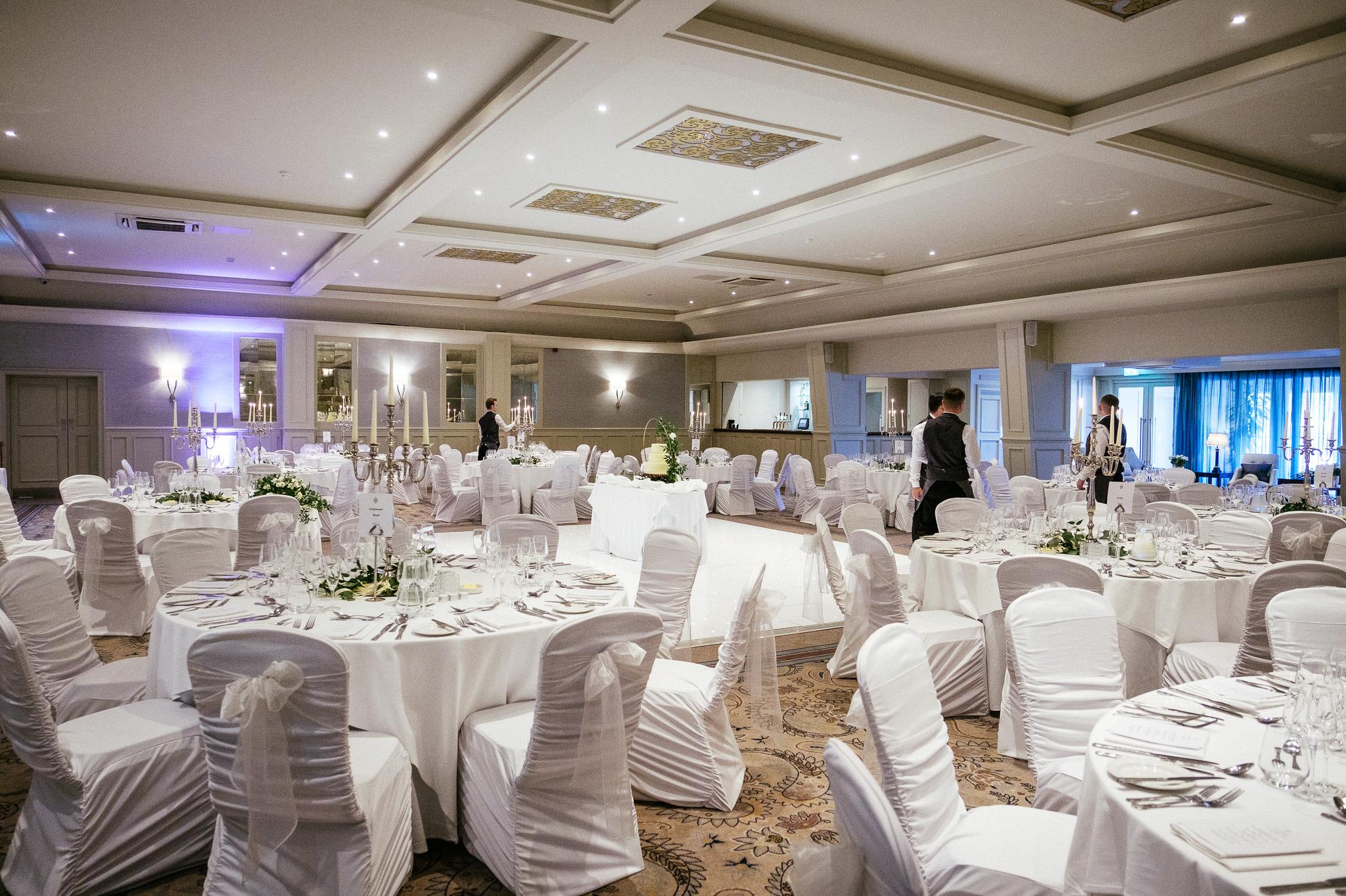 room setup for a Portmarnock Hotel Wedding