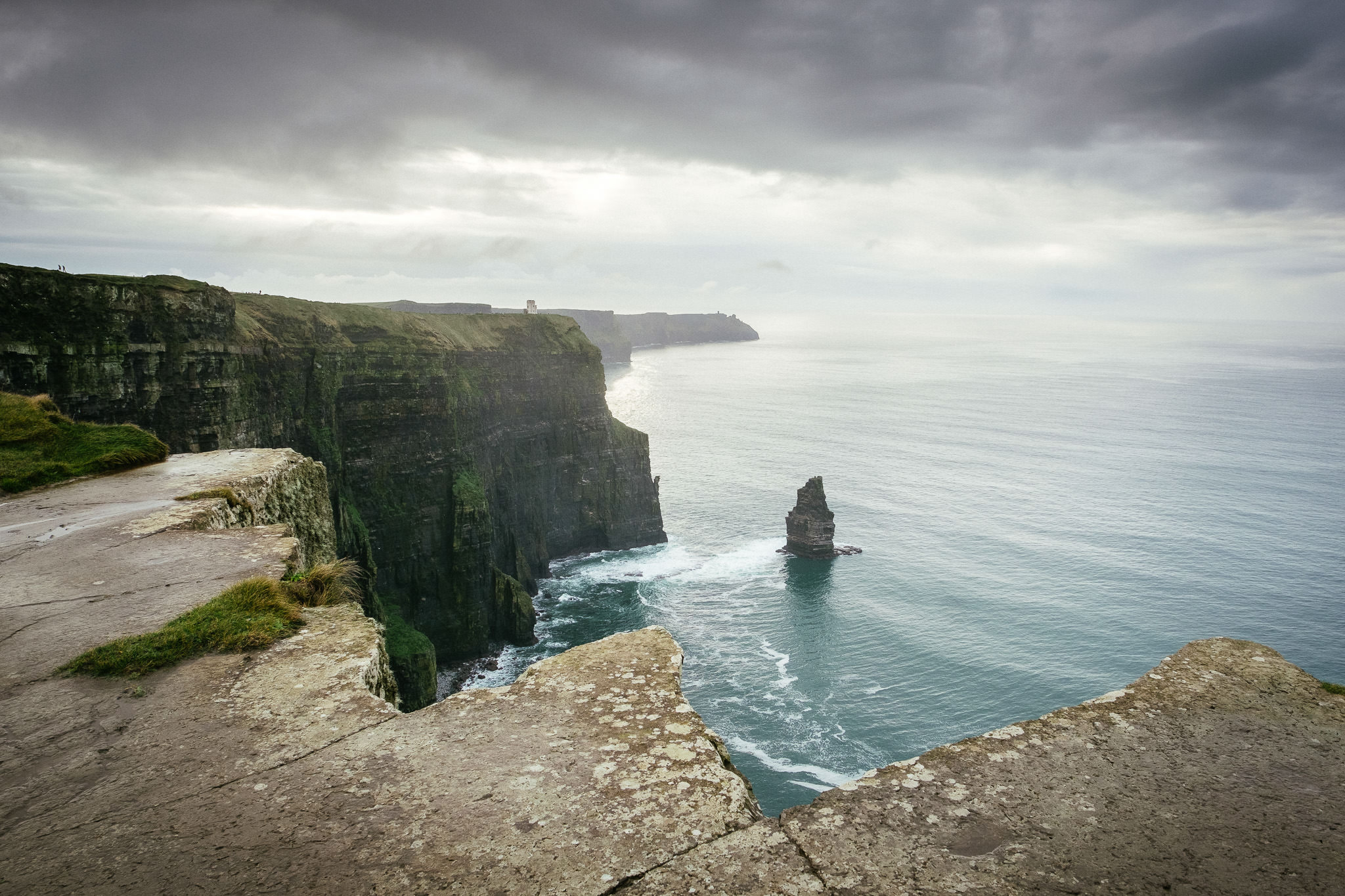 sea stack at the Cliffs of Moher Ireland