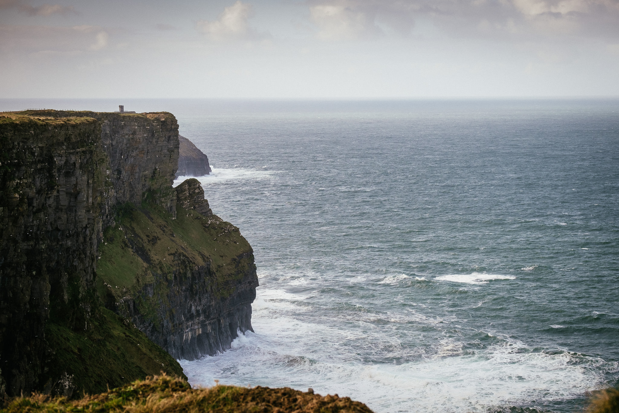 sea at the Cliffs of Moher Ireland